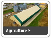 Agriculture. Commodity storage, livestock housing, equipment storage, workshop, feed and hay storage, hoop barns and more.
