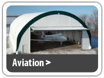 Aviation Building Solutions. Airplane hangar, airport garage, aircraft storage, portable hangar and more.